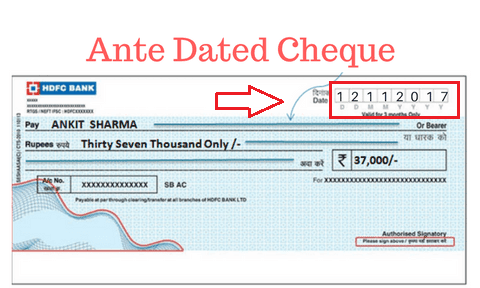 Anti Dated Check