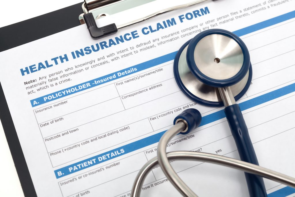 Medical and health insurance claim form