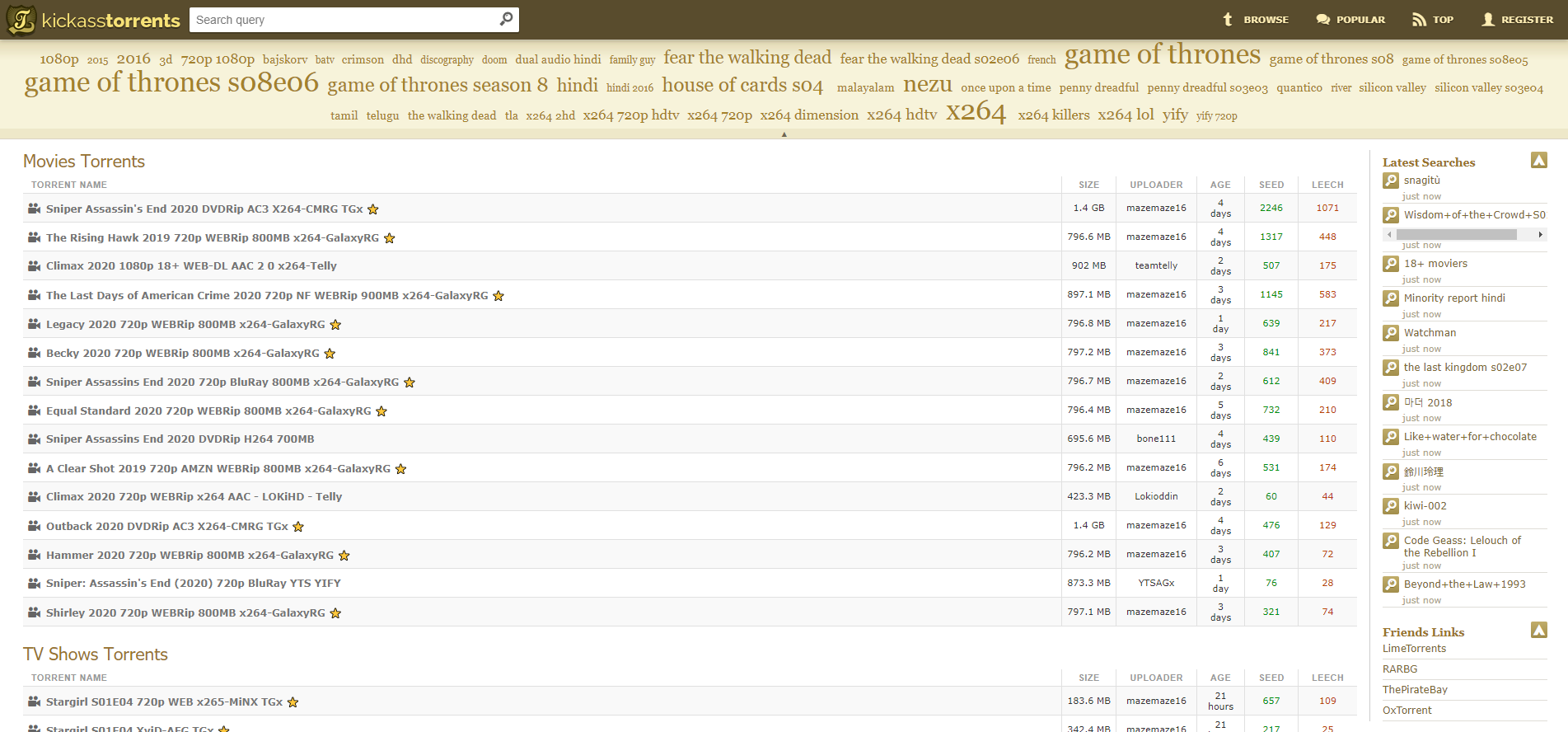 KickAssTorrents Movie Torrent