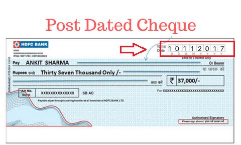 Post Dated Checks