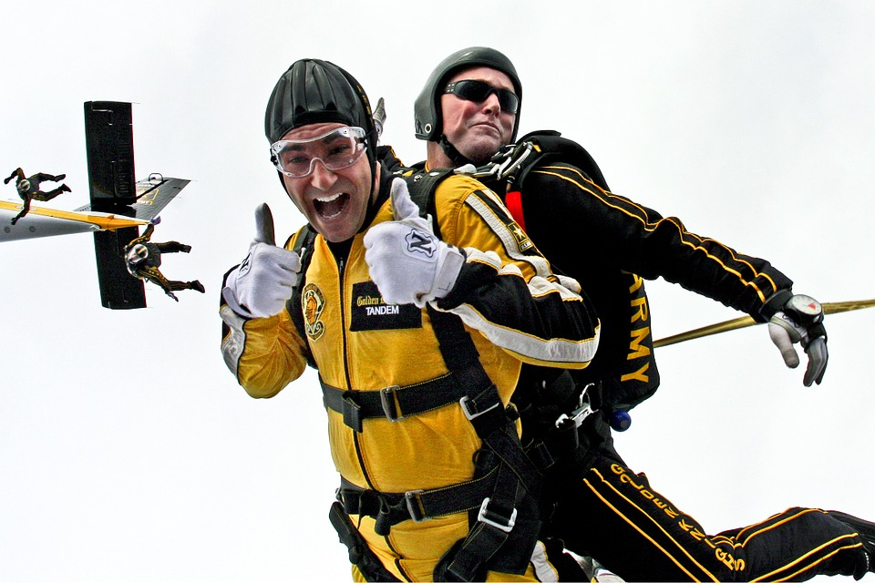 skydiving bucket list