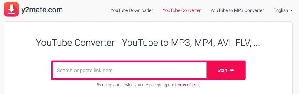 Y2Mate video downloader