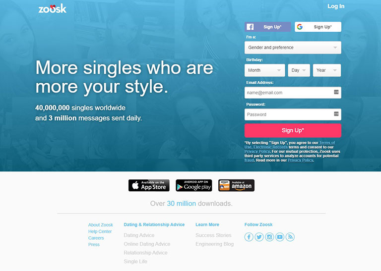 Zoosk dating site