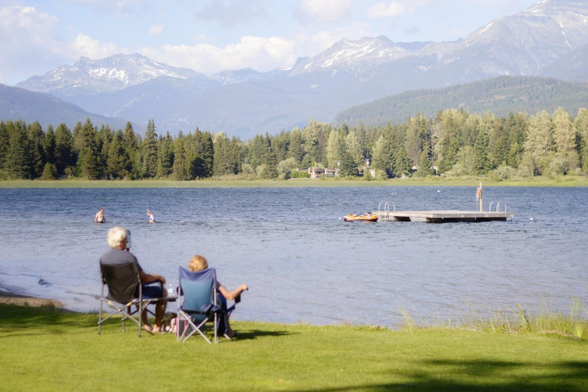 senior couple, relaxing by the lake, best states to retire