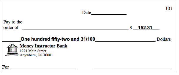 how to write a check, check sample