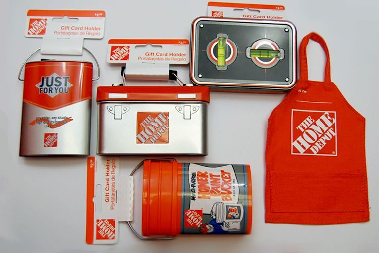 Home Depot Gift cards items