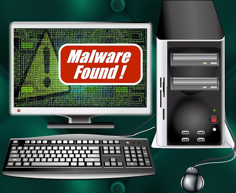 Trojan malware attack