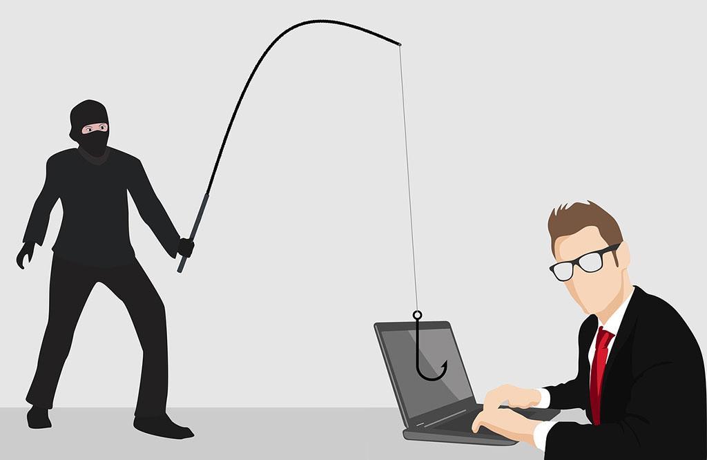 Phishing website's personal data