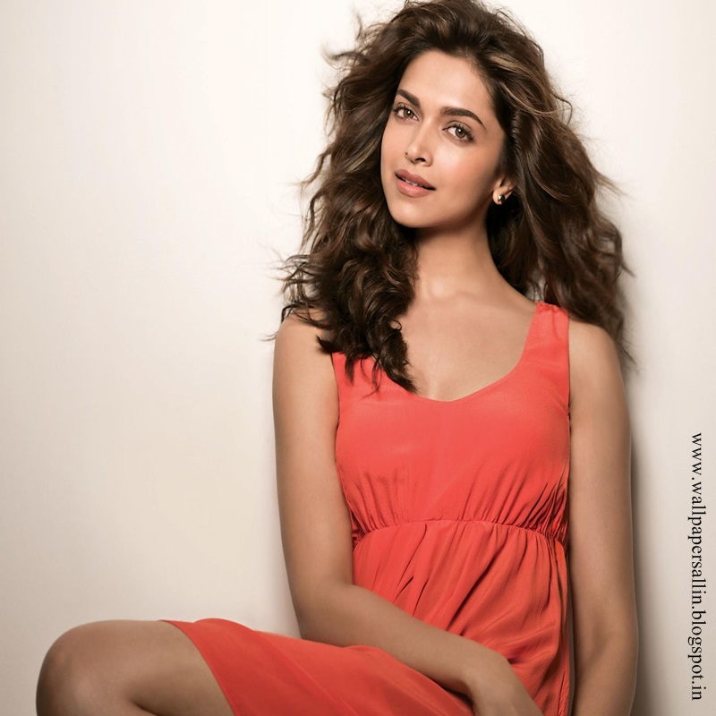 Deepika Padukone in sleeveless red dress