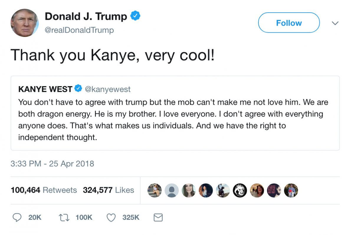 Donald Trump responds to Kanye West.