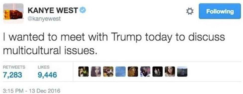 Kanye West on meeting Donald Trump