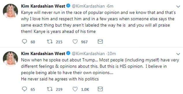 Kim Kardashian defends Kanye West