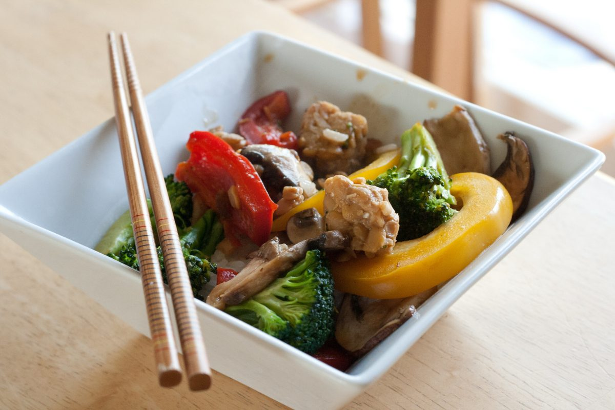 Delicious and nutritious tempeh stir fry