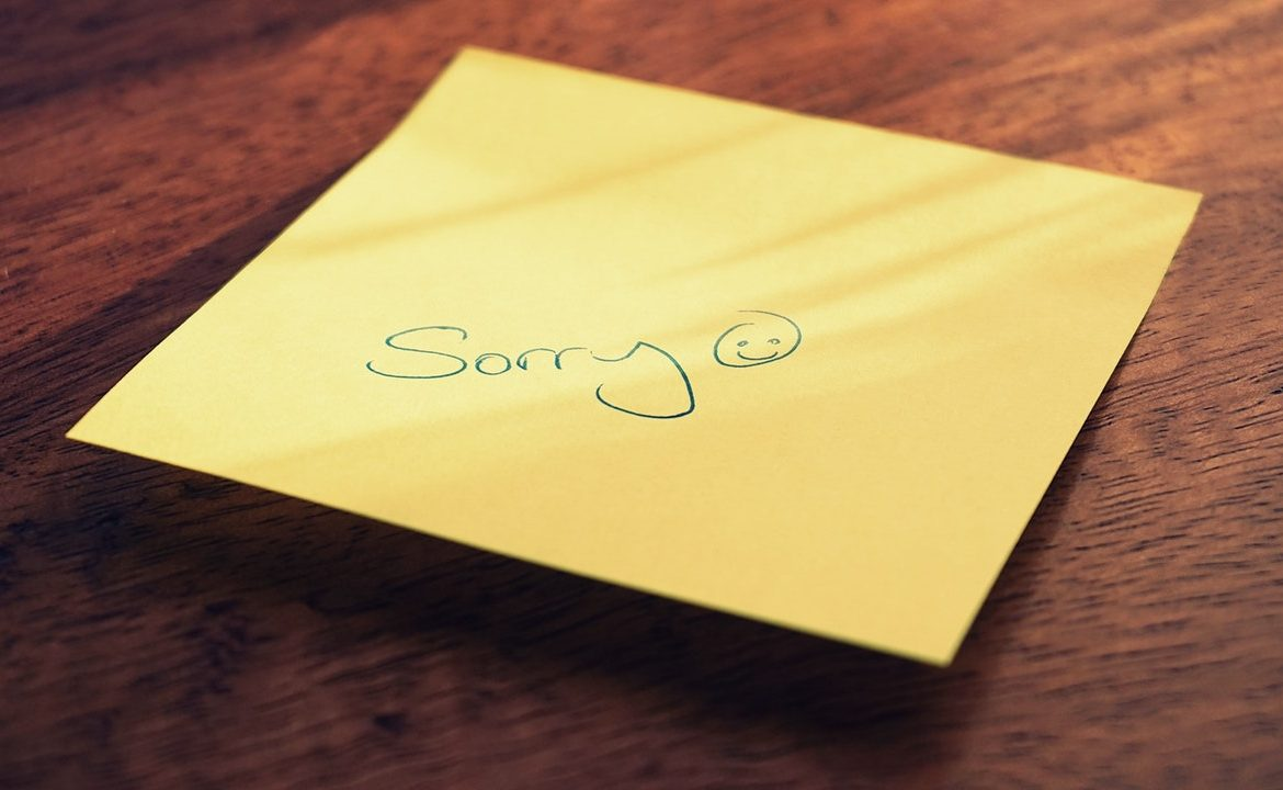 Apologizing isn't always the easiest.