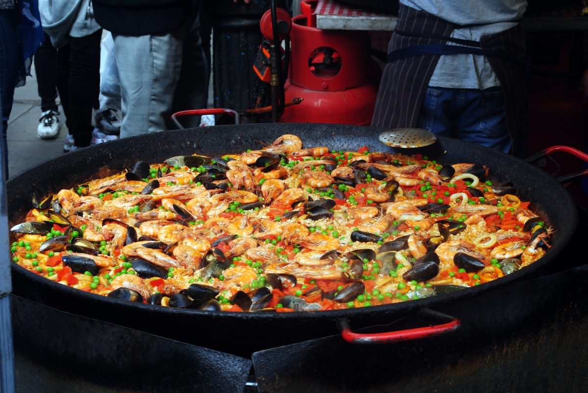 paella as mediterranean food