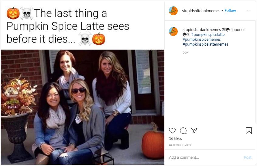 Pumpkin spice GF memes