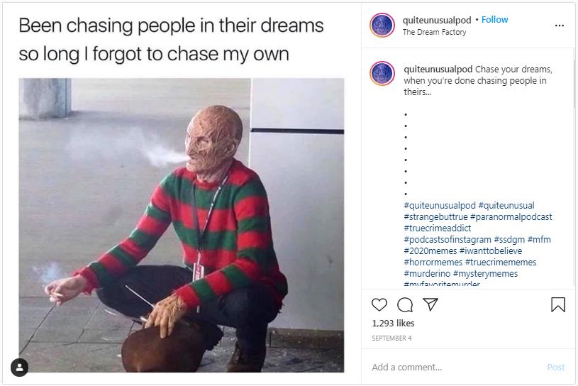 Freddy Krueger says dream on!