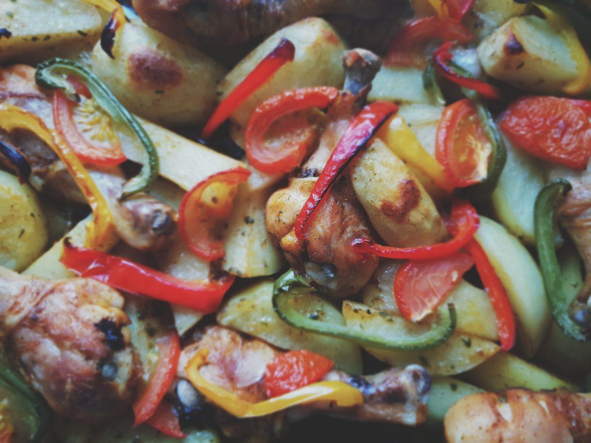 roasted vegetables as mediterranean food