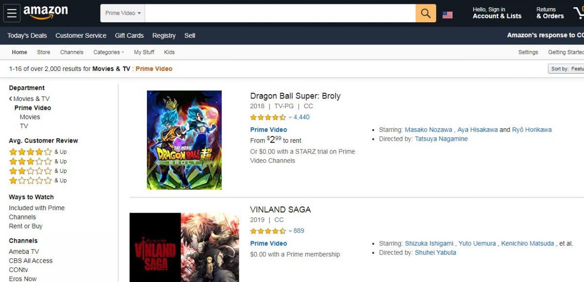 Anime Amazon Prime