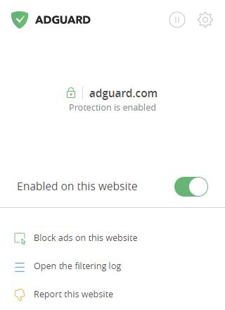 AdGuard ad blocker browser extension