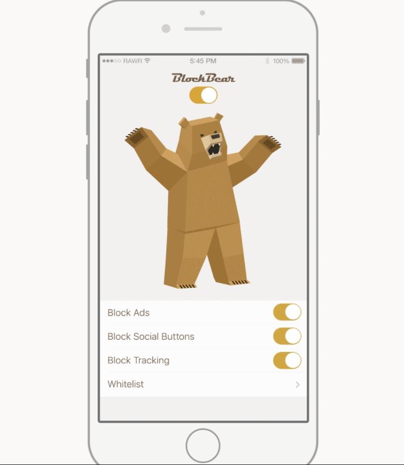 BlockBear ad blocker for iPhone