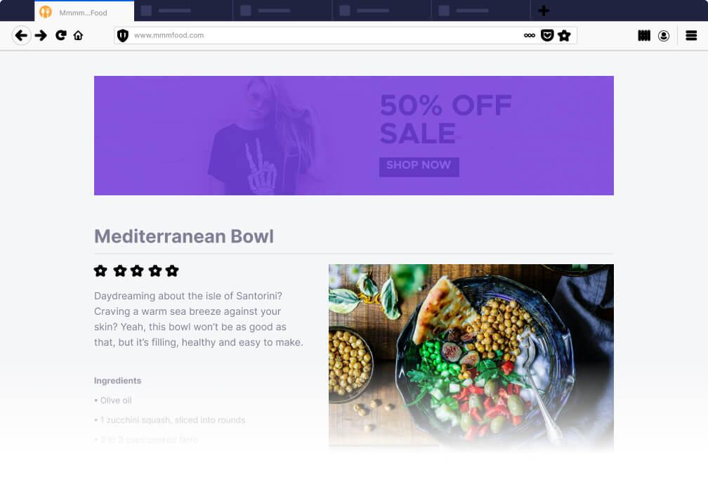 Firefox' content blocker works as an ad blocker