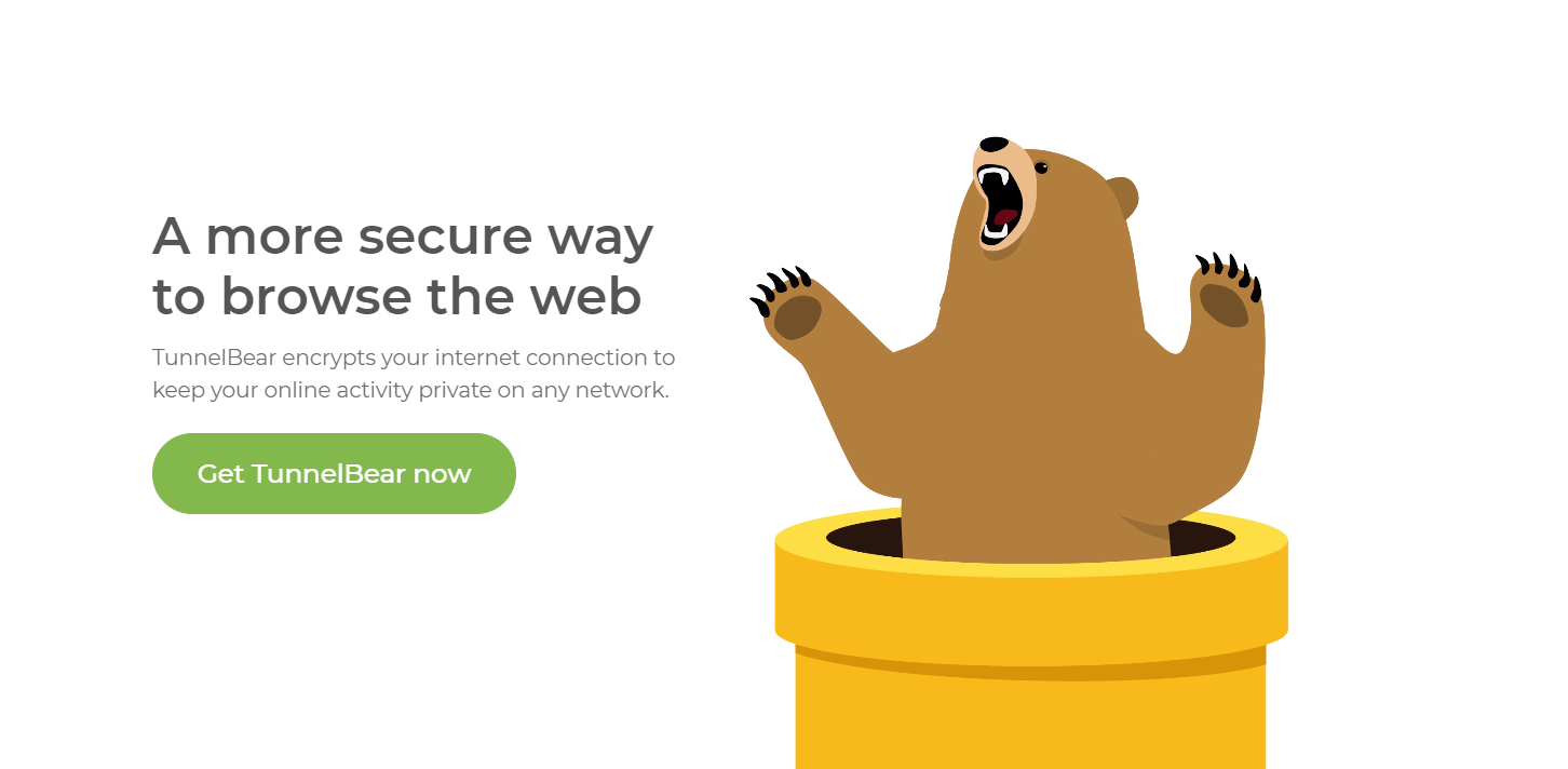 TunnelBear free VPN for safer browsing