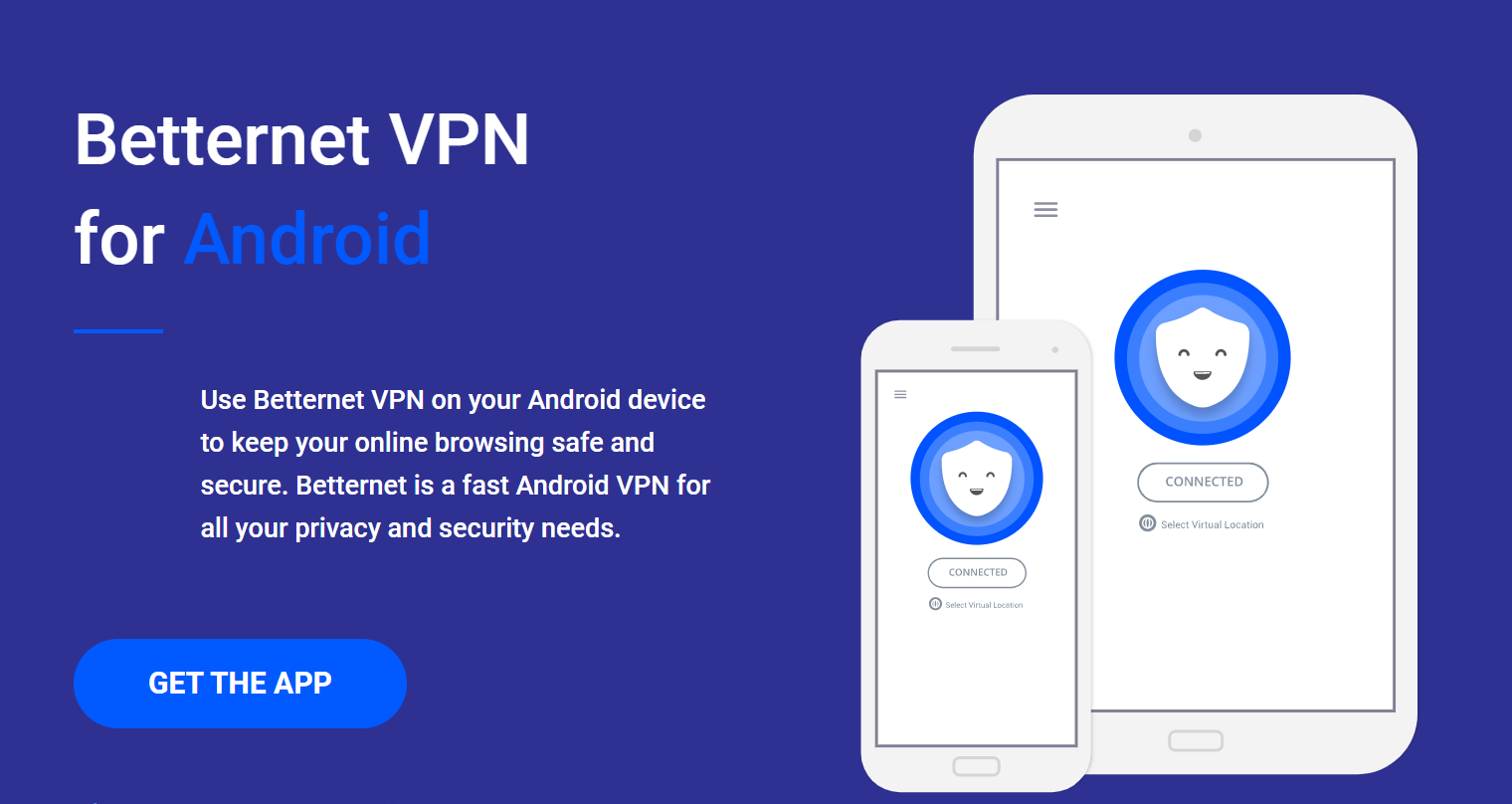 Betternet free VPN for Android devices