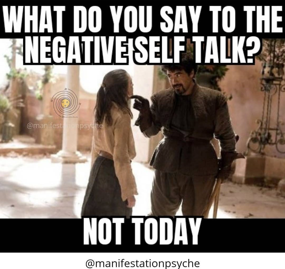 No to Negative Talk Everyday!