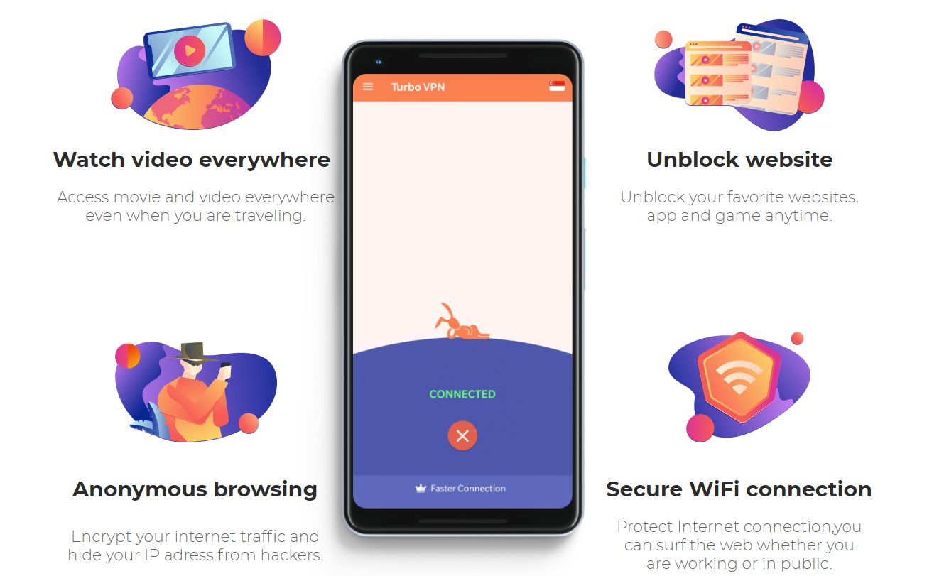 Turbo free VPN for Android