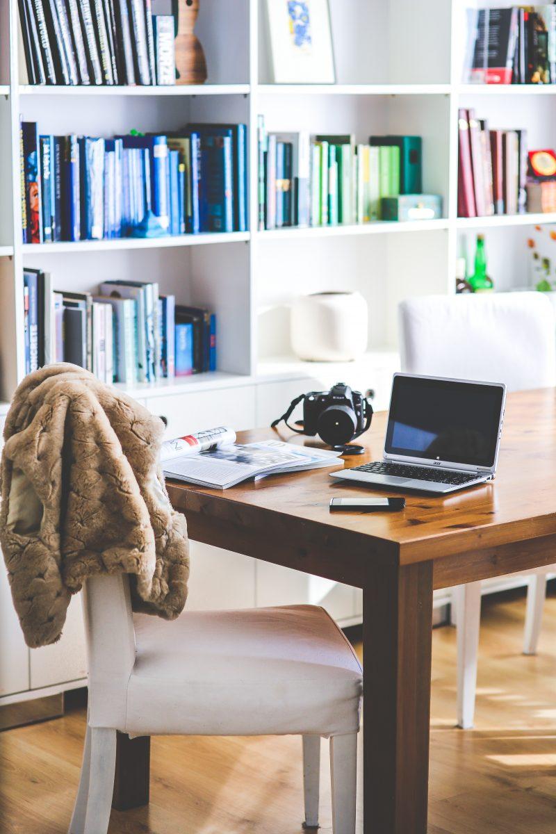 home office ideas for shelves