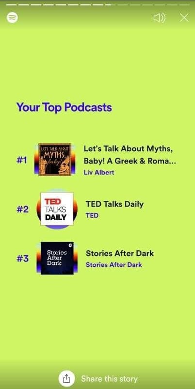 spotify wrapped top podcasts