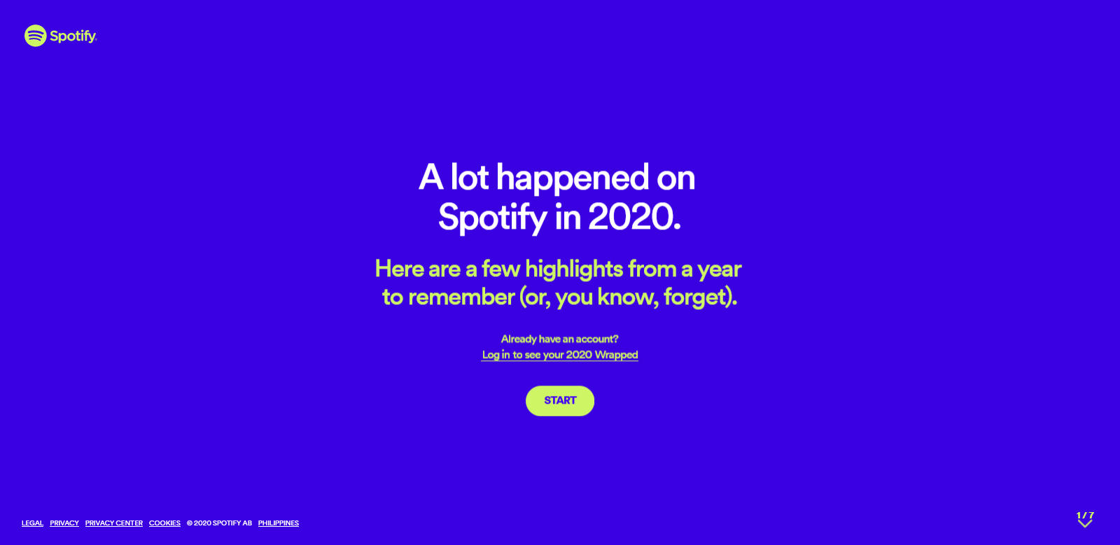 spotify wrapped on web