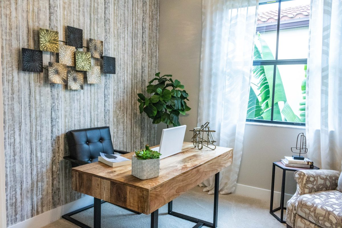 accent wall for home office ideas