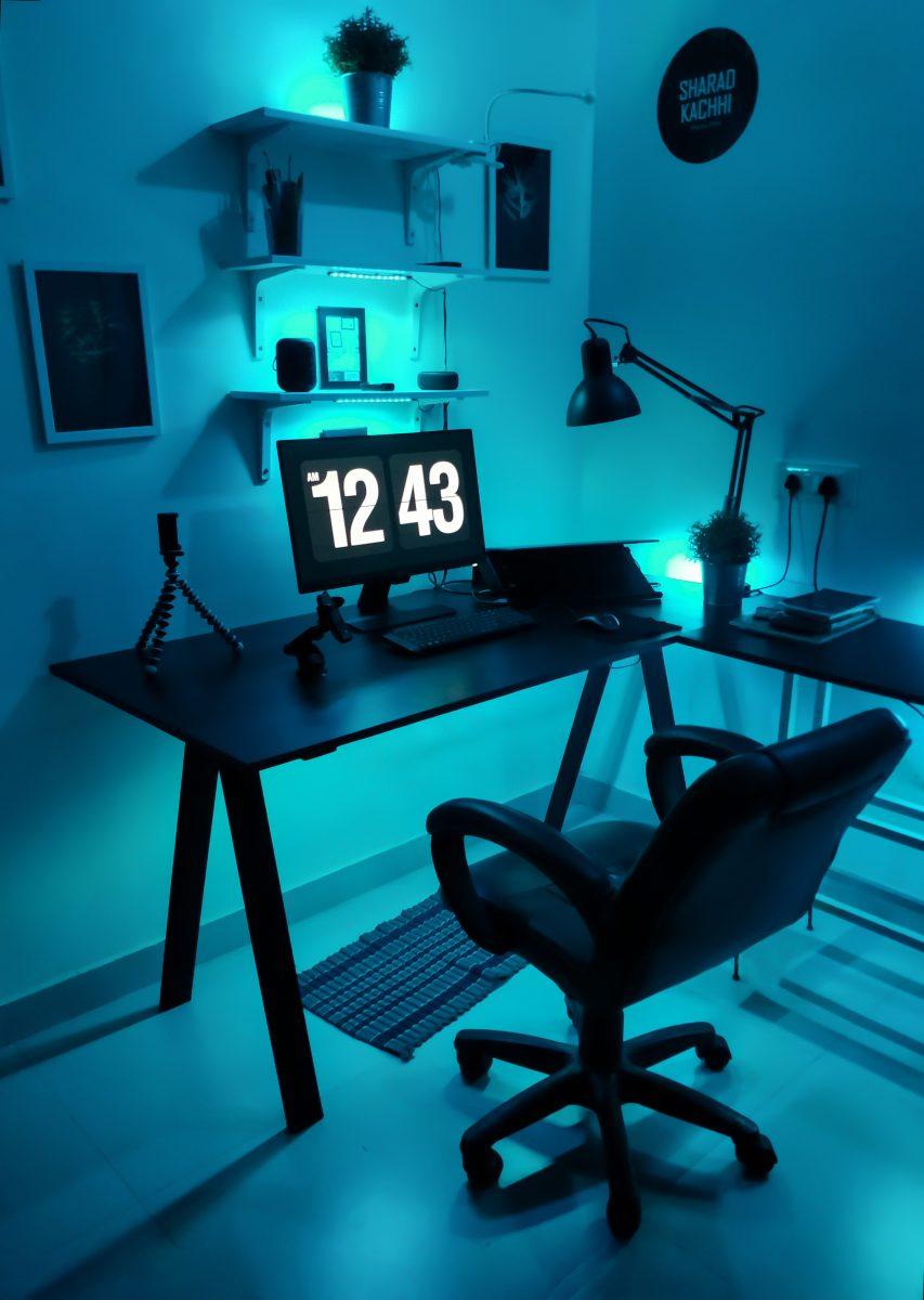 home office ideas for lighting