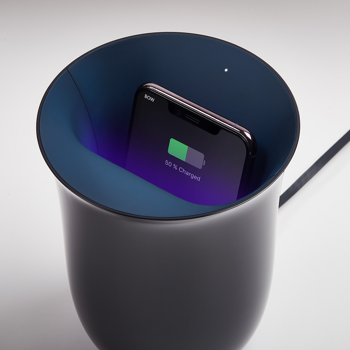 Sanitize your phone while charging with the Oblio Wireless Charging Station with UV Sanitizer