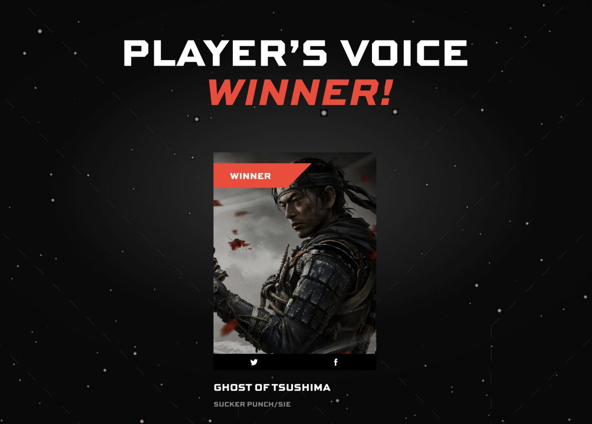 GHOST OF TSUSHIMA wins Players Voice Award