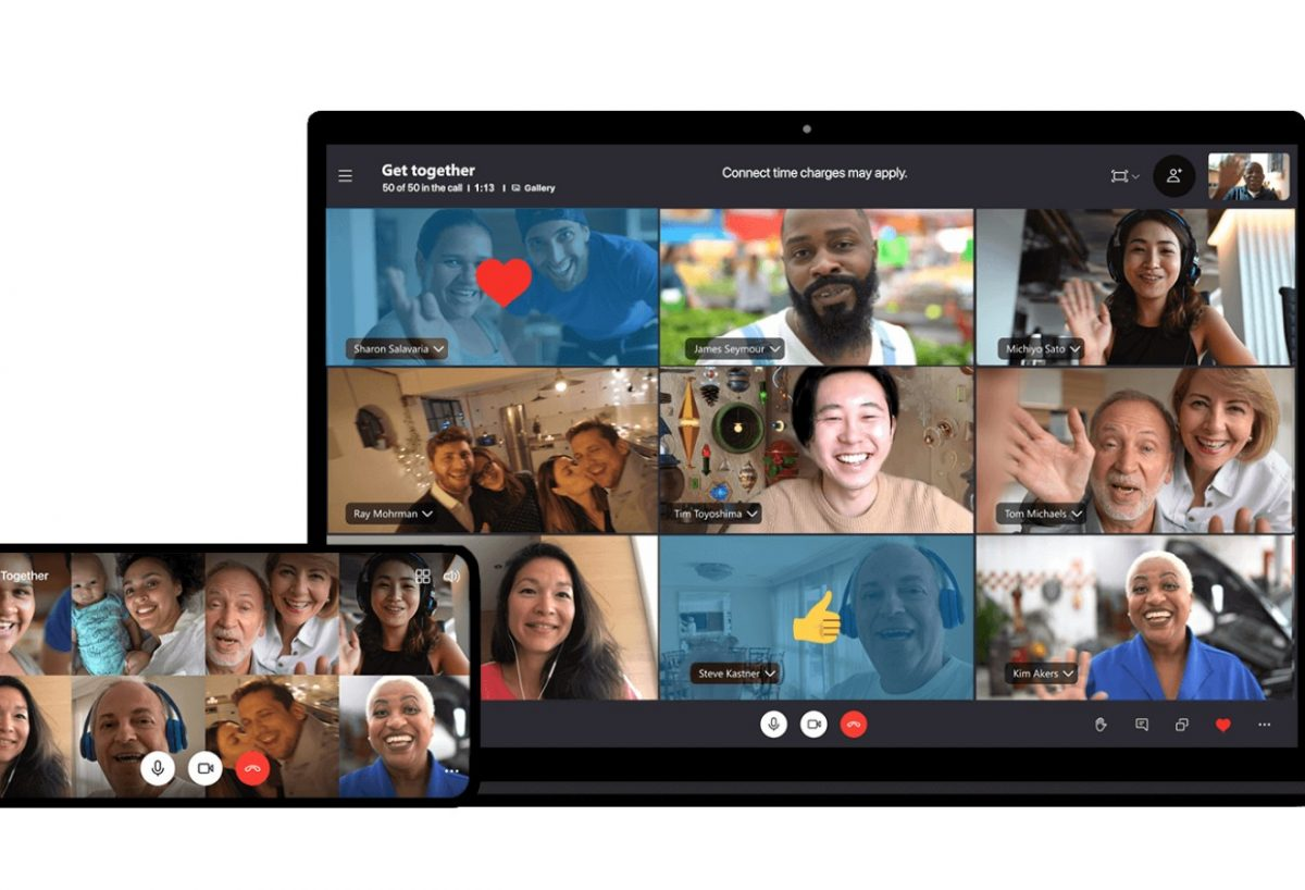 Use Skype for video call conferences