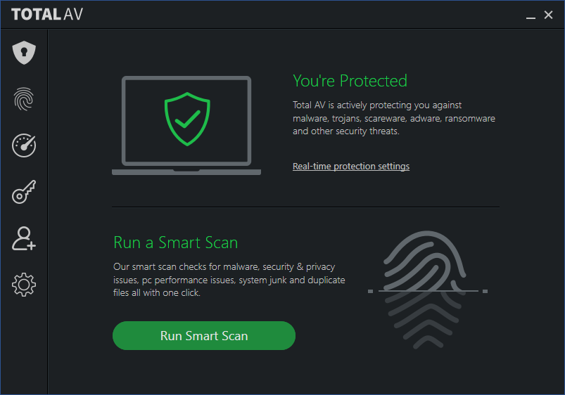 Total AV one of the best free antivirus for MAC