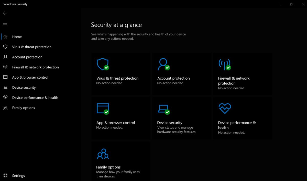 Windows' built-in free antivirus program is the best free antivirus for Windows 10