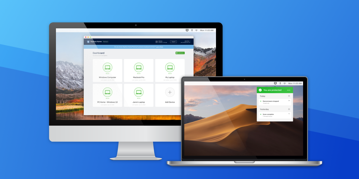 Sophos antivirus, the best free antivirus for Mac devices