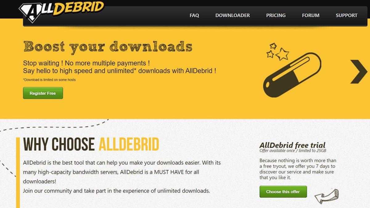 AllDebrid downloader.
