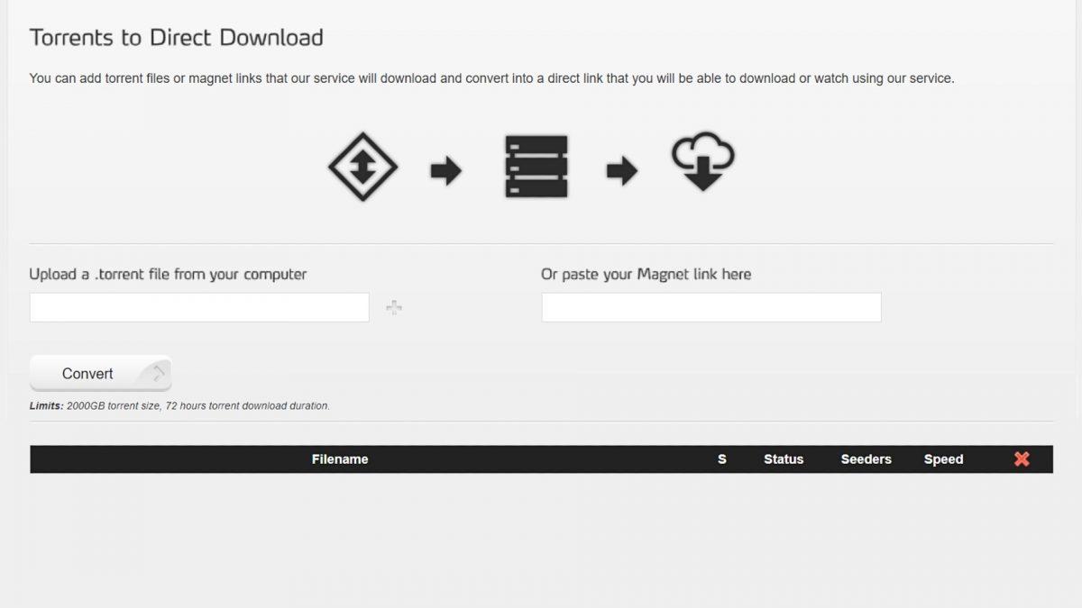 Torrent download.