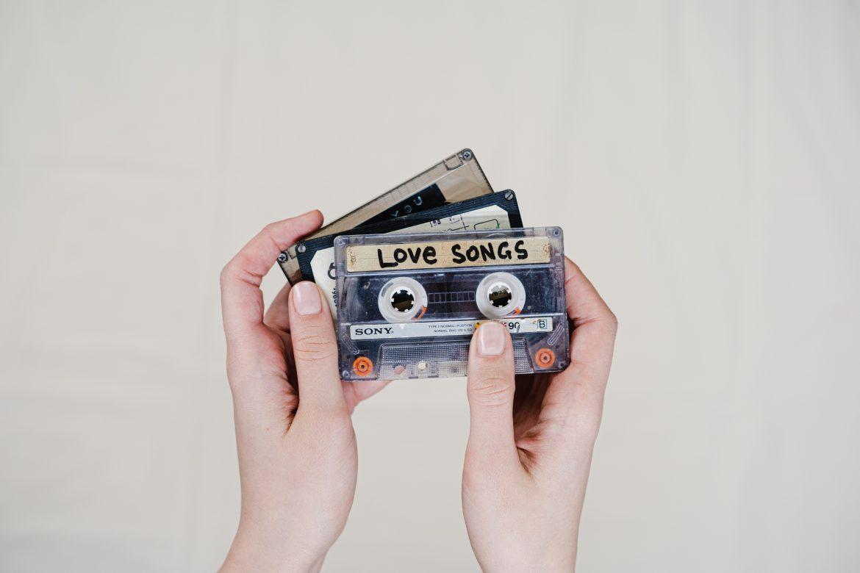 cassette tape of love songs
