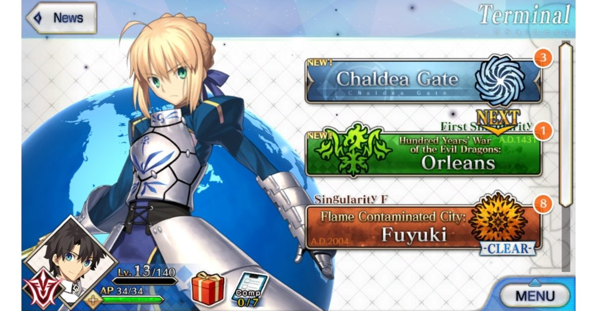 Fate/Grand Order mobile gacha game.