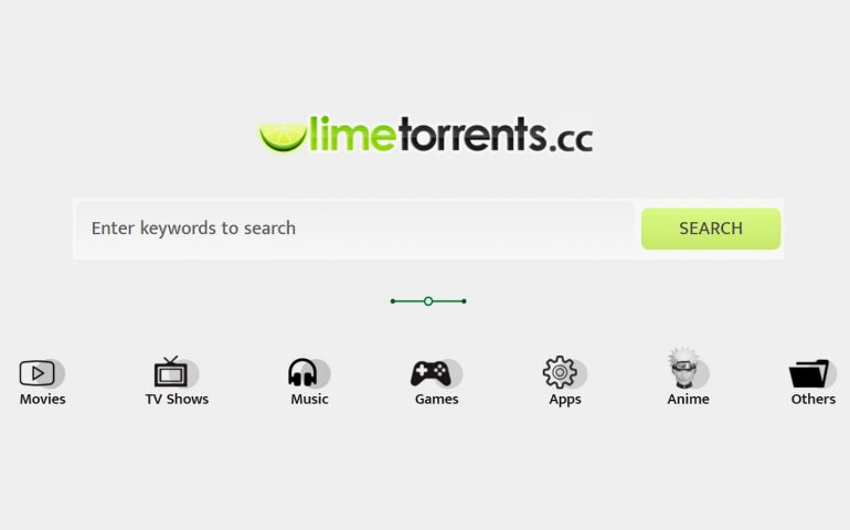 Image grabbed from Limetorrents website.