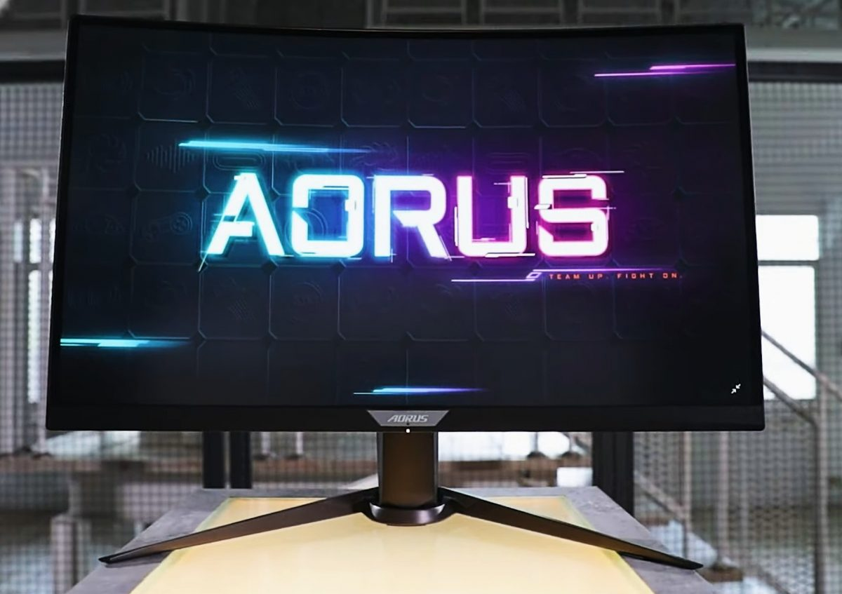 Aorus CV27Q gaming monitor.
