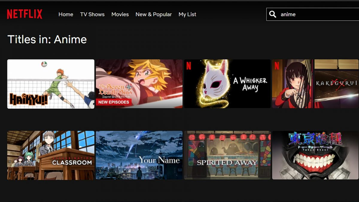 Anime on Netflix.