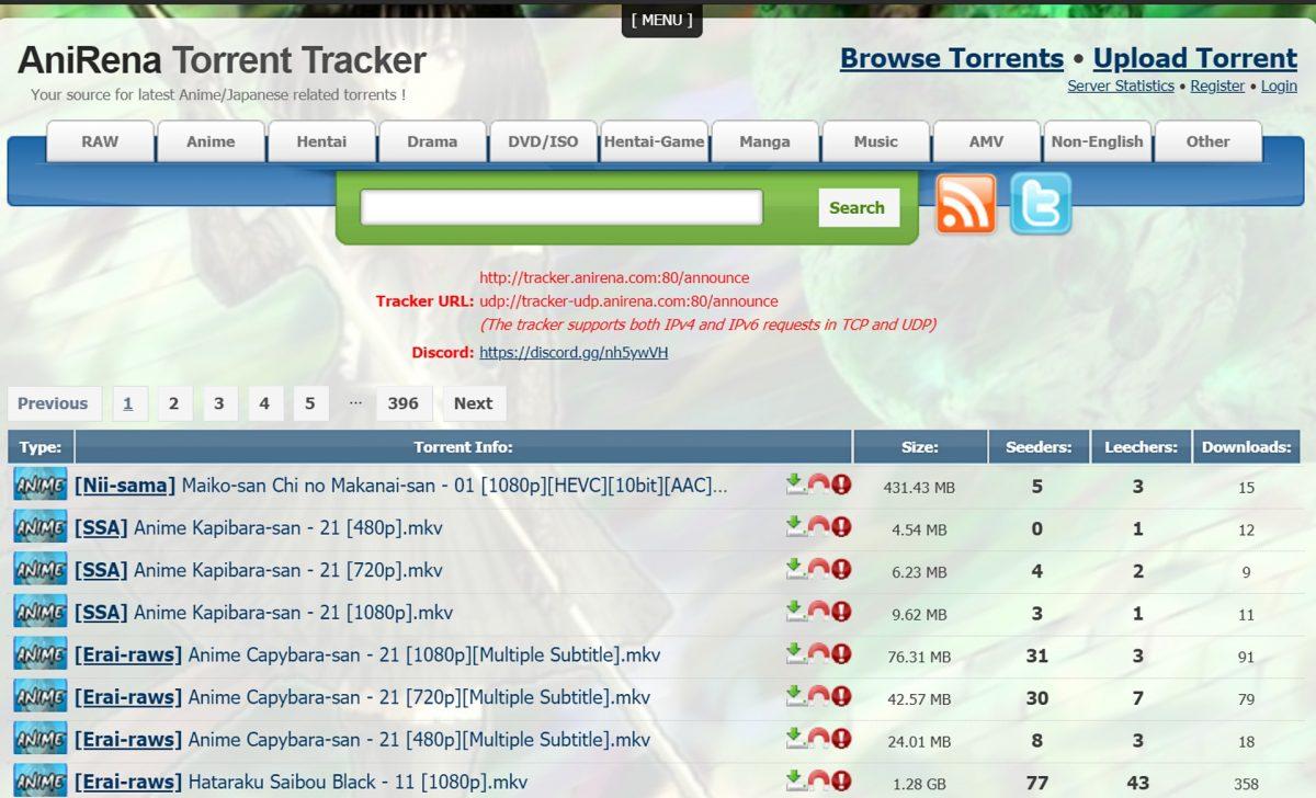 AniRena torrent tracker.