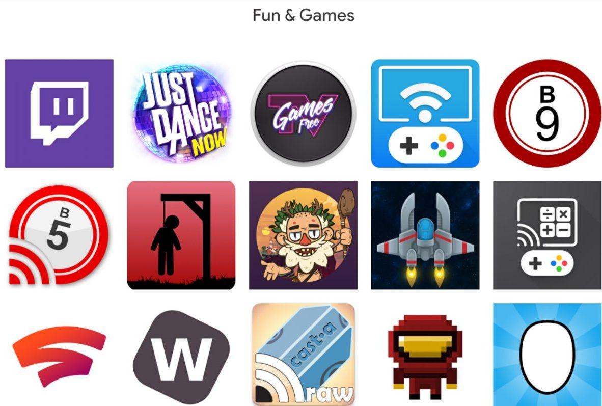 Chromecast games.